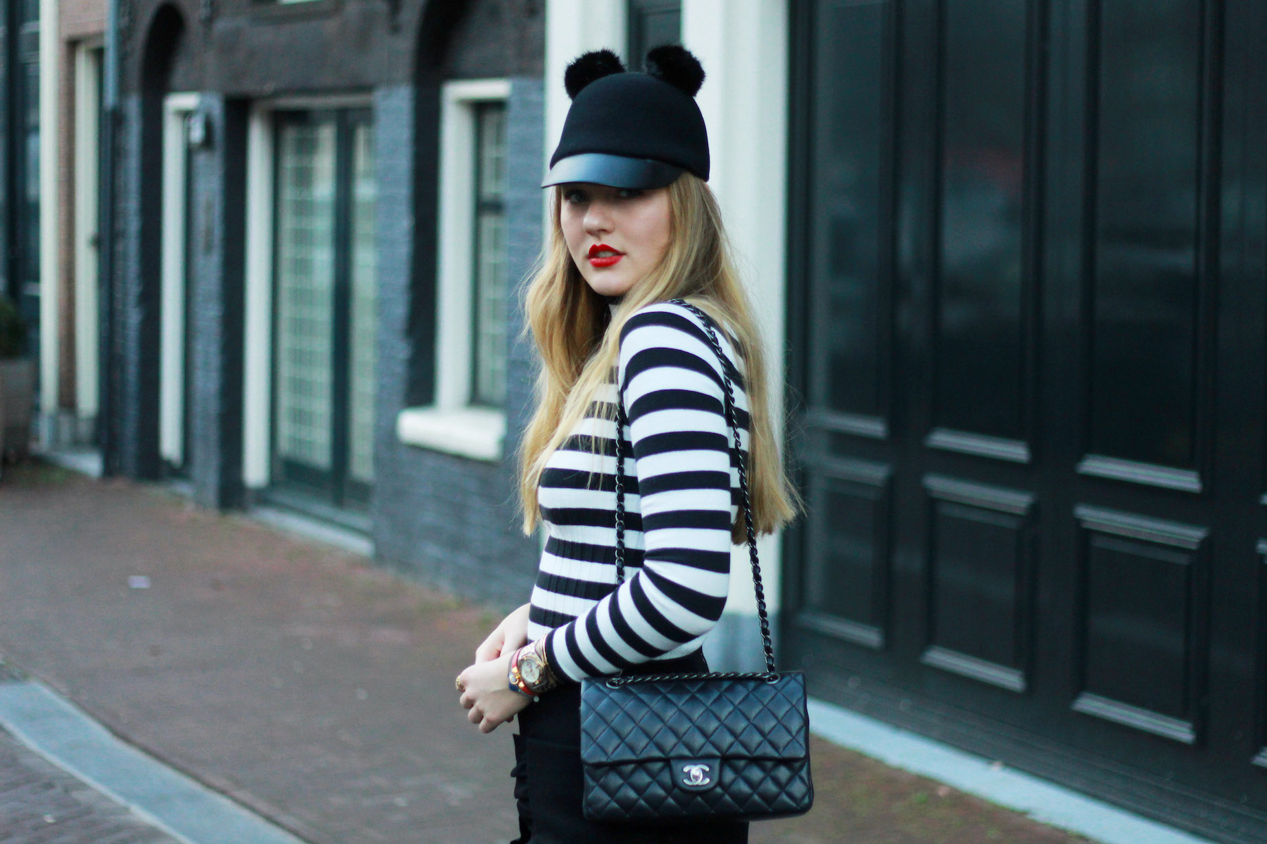 floortjeloves, mickey, wolford, cos, zara, asos, H&M, the difference between dreaming and doing, dreaming and doing, chanel, chanel classic, chanel bag, stripes