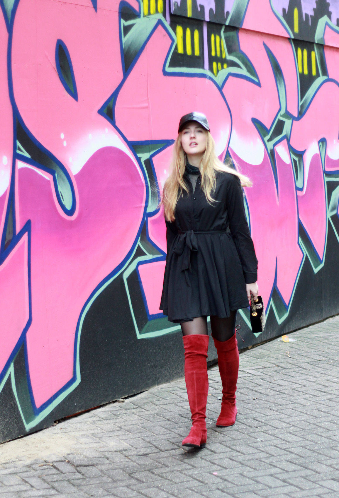 floortjeloves, let's color the world, choies, zaful, stuart weitzman, knee boots, wolford, graffiti