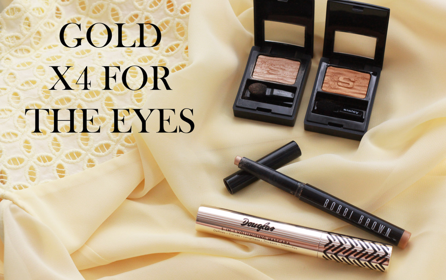 floortjeloves, gold, gold spring make-up, make-up look, comma, H&M, chanel, sisley, bobbi brown, douglas