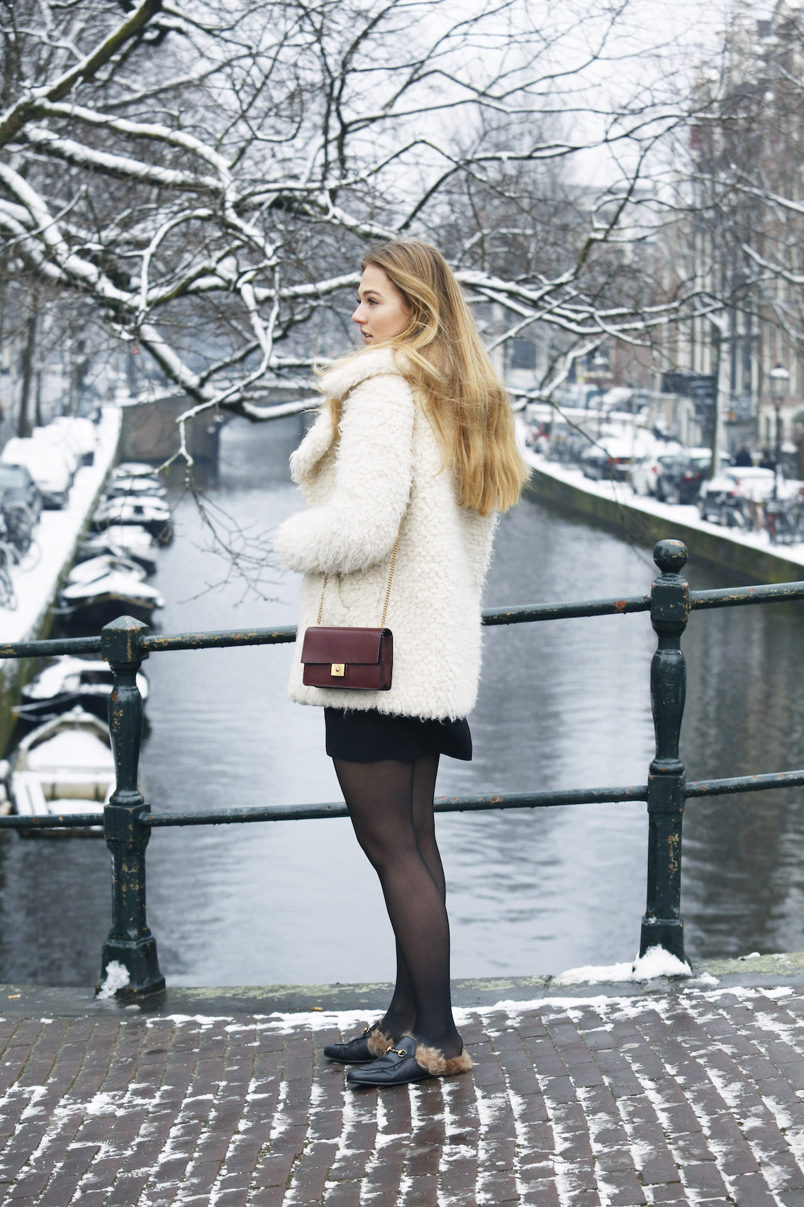 floortjeloves, plan78, plan 78 project, asos, furry coat, primark, embroidered dress, gucci, gucci slippers, mulberry, mulberry bag, wolford