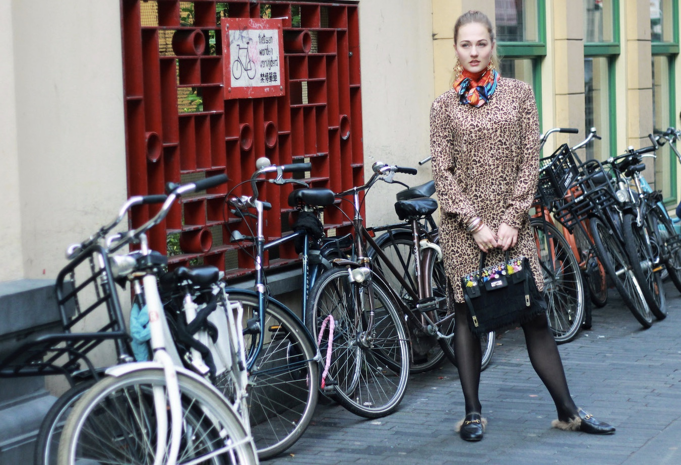 floortjeloves, 6 things to do for your blog today, to do, leopard, leopard print, leopard dress, saint tropez, wolford, rafnik, rafnik italy, demonTZ, silk scarf, gucci, gucci shoes, gucci slippers, celine, celine marta, celine sunglasses