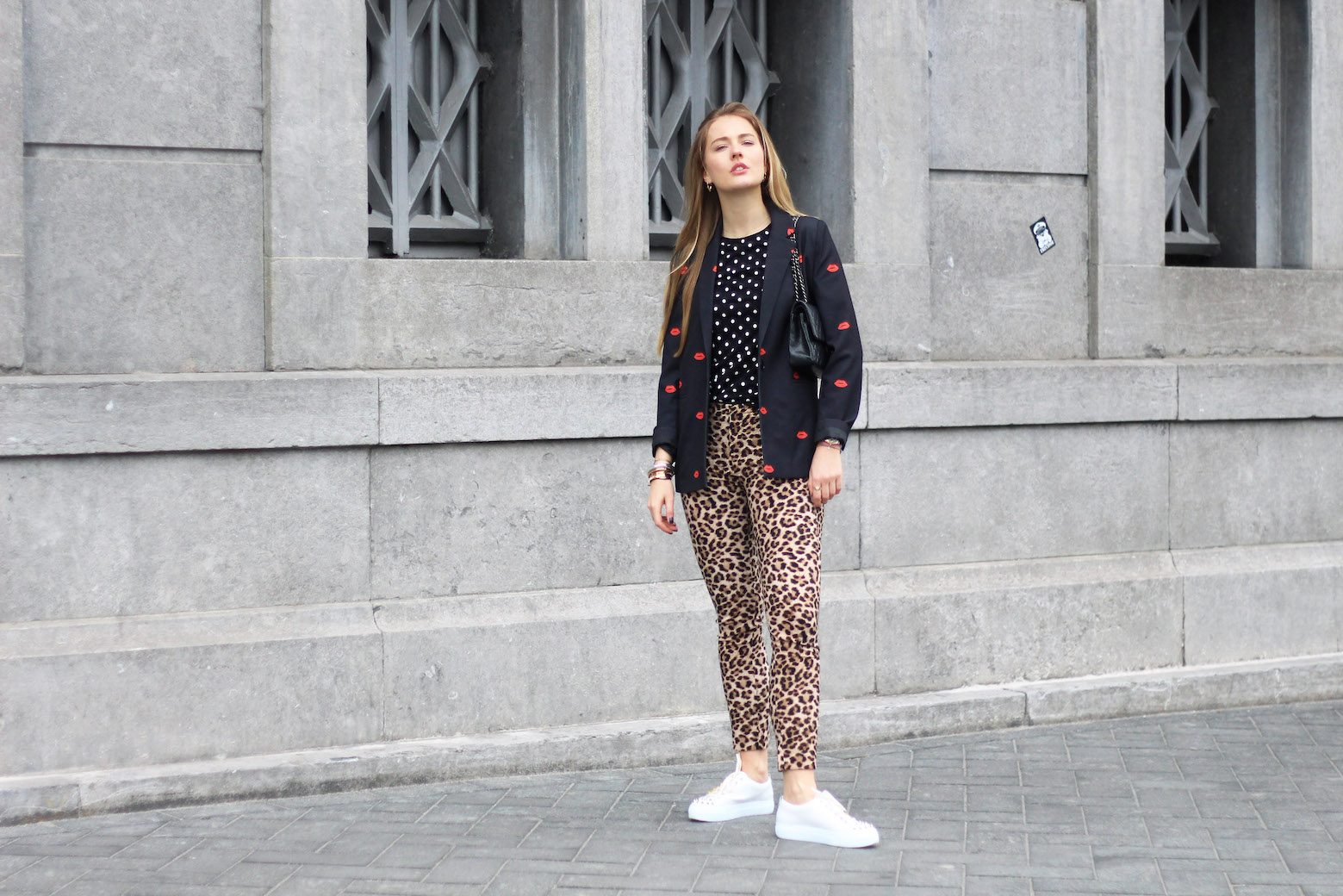 floortjeloves, these steps will make you a more positive person, colourful rebel, daylliance, white sneakers, agl, chanel, chanel bag, chanel classic, louis vuitton, louis vuitton earrings, zara, leopard, leopard print