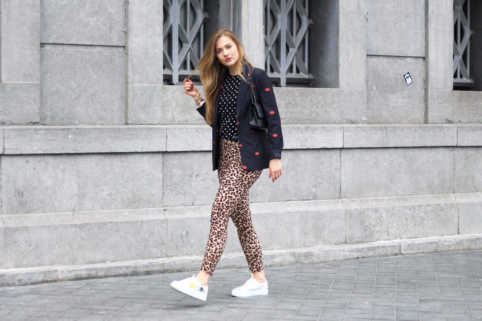 floortjeloves, these steps will make you a more positive person, colourful rebel, daylliance, white sneakers, agl, chanel, chanel bag, chanel classic, louis vuitton, louis vuitton earrings, zara, leopard, leopard print,
