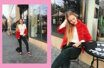Floortjeloves, mix and match, by-bar, by bar, arma, shoes of prey, miumiu, miu miu, velvet, fur, red coat, white shirt