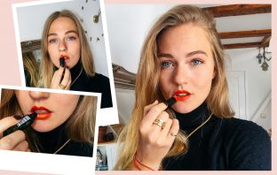 floortjeloves, hema, ombre, ombre holiday lips, lips, make-up, Christmas make-up, holiday make-up, party make-up