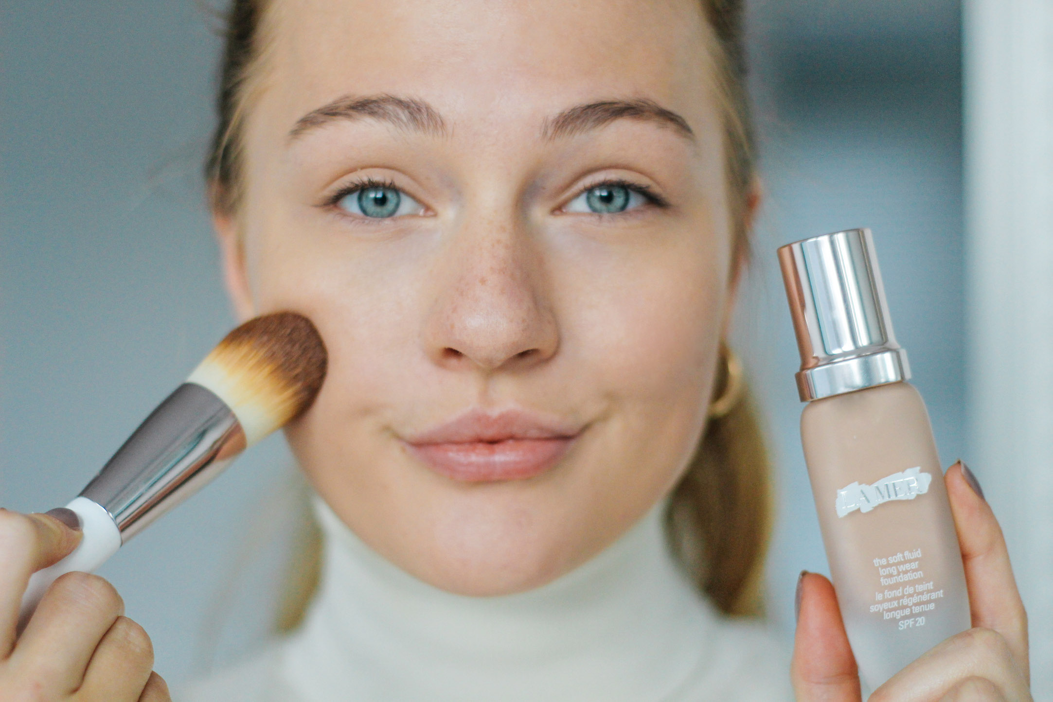floortjeloves, flawless, flawless skin, a flawless skin with la mer, la mer, foundation, compact powered, lotion, moisturize