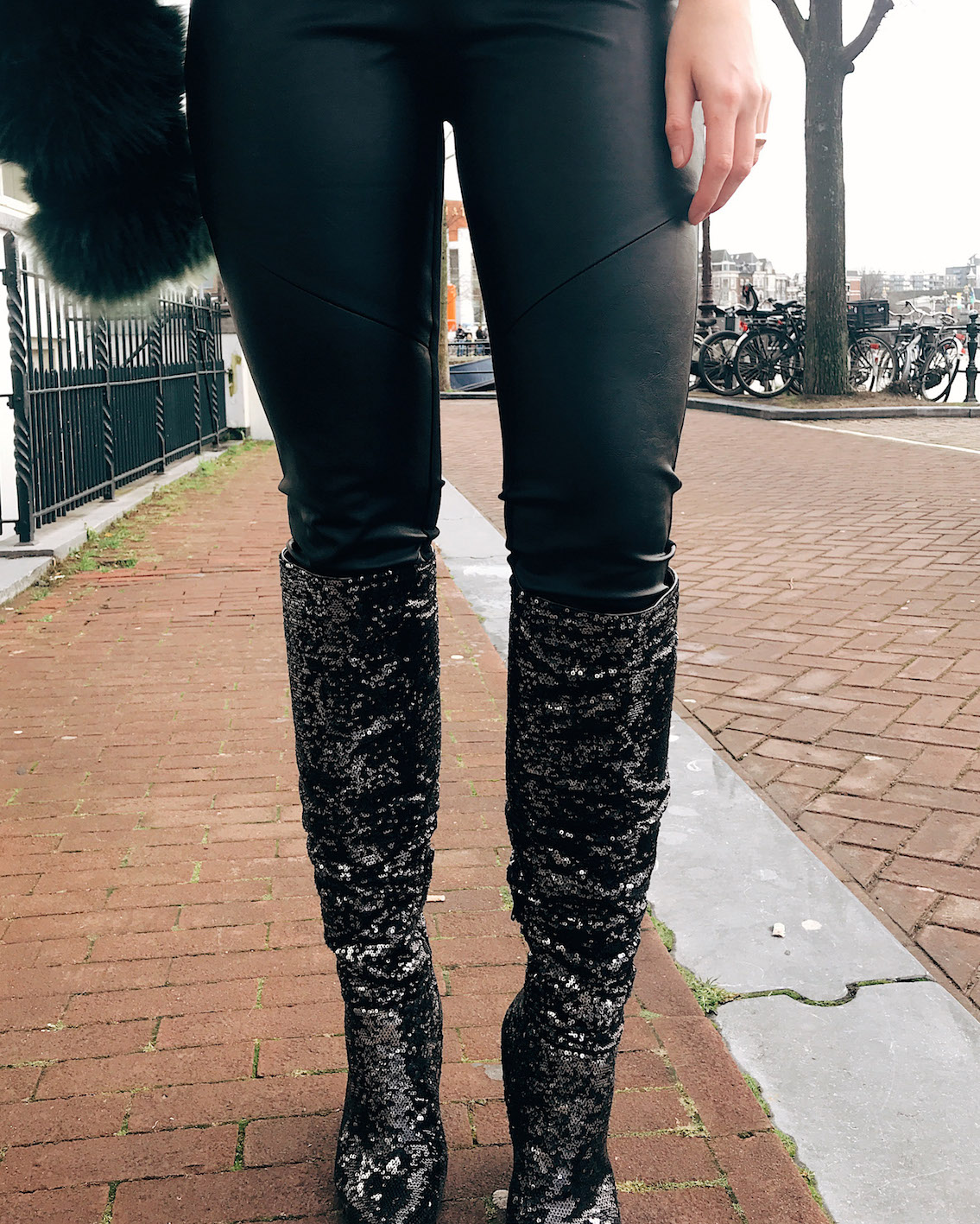 floortjeloves, tom tailor, Naomi Campbell, Giese leather, primark, sequin, sequin boots, leather legging