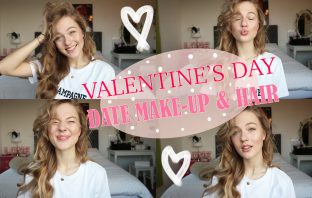 floortjeloves, Valentine's Day, valentines day, valentines day date, date make-up, make-up tutorial, t3, hair tutorial, Valentine's Day make-up, Valentine's Day date make-up & hair, youtube