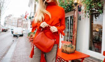 red bag, red outfit, outfit inspiration, winter outfit